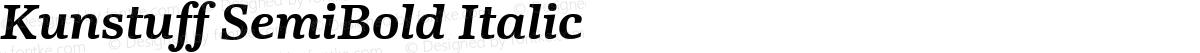 Kunstuff SemiBold Italic