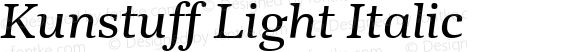 Kunstuff Light Italic
