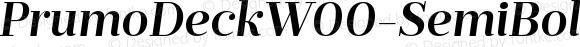 PrumoDeckW00-SemiBoldItalic Regular Version 1.10