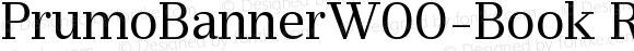 PrumoBannerW00-Book Regular Version 1.10