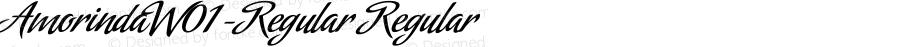AmorindaW01-Regular Regular Version 1.00