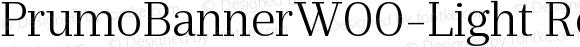 PrumoBannerW00-Light Regular Version 1.10