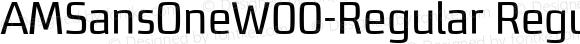 AMSansOneW00-Regular Regular Version 1.10