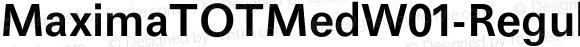 MaximaTOTMedW01-Regular Regular Version 1.00