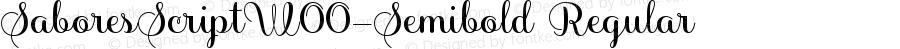 SaboresScriptW00-Semibold Regular Version 1.00