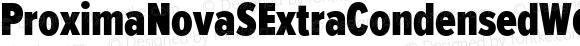 ProximaNovaSExtraCondensedW01SC-Blk Regular Version 2.015