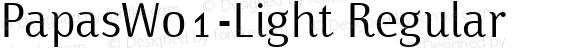 PapasW01-Light Regular preview image
