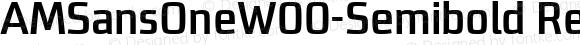 AMSansOneW00-Semibold Regular Version 1.10