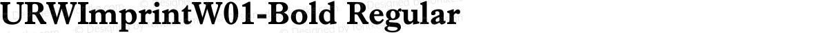 URWImprintW01-Bold Regular