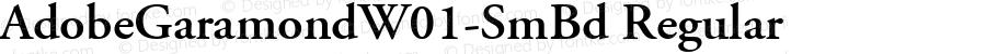 AdobeGaramondW01-SmBd Regular Version 1.00