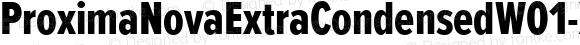 ProximaNovaExtraCondensedW01-Xbold Regular Version 2.015