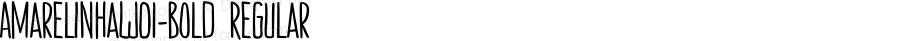 AmarelinhaW01-Bold Regular Version 1.1