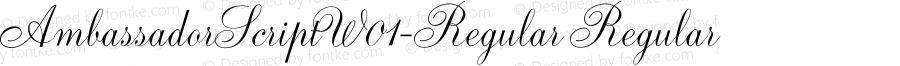 AmbassadorScriptW01-Regular Regular Version 1.00