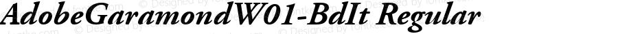 AdobeGaramondW01-BdIt Regular Version 1.00