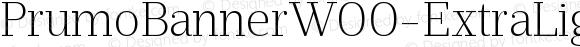 PrumoBannerW00-ExtraLight Regular Version 1.10