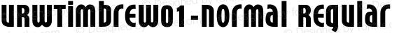URWTimbreW01-Normal Regular Version 1.00