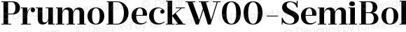 PrumoDeckW00-SemiBold Regular Version 1.10