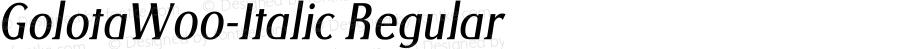 GolotaW00-Italic Regular Version 1.00