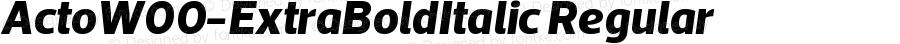 ActoW00-ExtraBoldItalic Regular Version 1.10