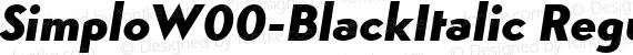 SimploW00-BlackItalic Regular preview image