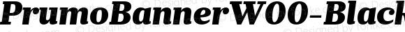 PrumoBannerW00-BlackItalic Regular Version 1.10