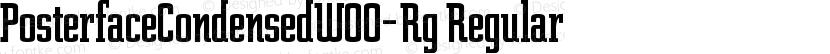 PosterfaceCondensedW00-Rg Regular Preview Image
