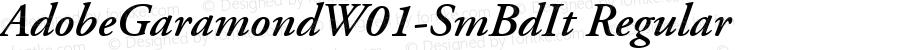 AdobeGaramondW01-SmBdIt Regular Version 1.00