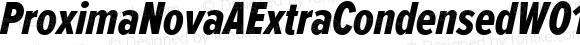 ProximaNovaAExtraCondensedW01-XboldIt Regular Version 2.015