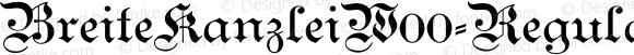 BreiteKanzleiW00-Regular Regular Version 1.00