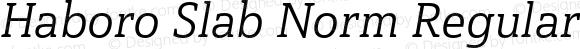 Haboro Slab Norm Regular Italic Norm Regular Italic