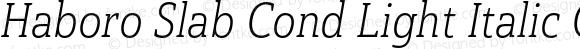 Haboro Slab Cond Light Italic Cond Light Italic