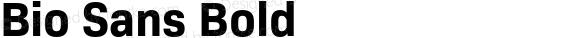 Bio Sans Bold preview image