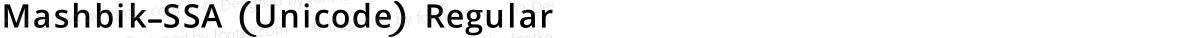 Mashbik-SSA (Unicode) Regular