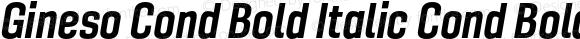 Gineso Cond Bold Italic Cond Bold Italic