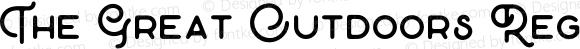 The Great Outdoors Regular Version 1.000;PS 001.000;hotconv 1.0.88;makeotf.lib2.5.64775