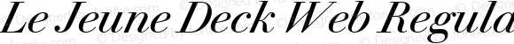 Le Jeune Deck Web Regular Italic