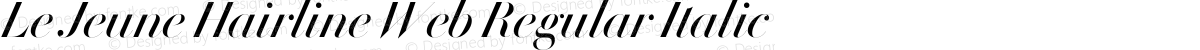 Le Jeune Hairline Web Regular Italic