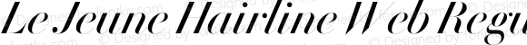 Le Jeune Hairline Web Regular Italic