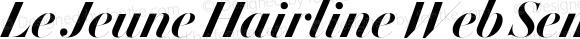 Le Jeune Hairline Web Semibold Italic