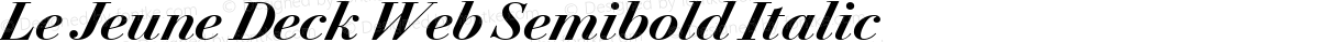 Le Jeune Deck Web Semibold Italic