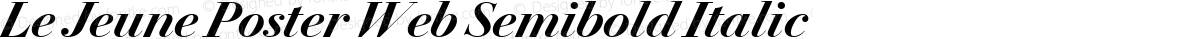 Le Jeune Poster Web Semibold Italic