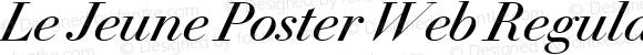 Le Jeune Poster Web Regular Italic