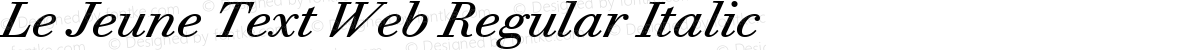 Le Jeune Text Web Regular Italic