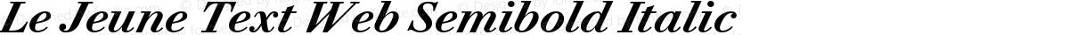 Le Jeune Text Web Semibold Italic