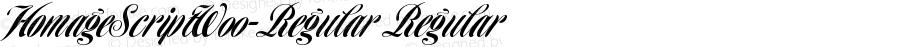 HomageScriptW00-Regular Regular Version 1.00