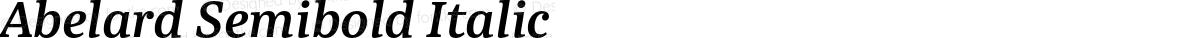 Abelard Semibold Italic