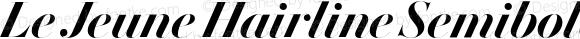 Le Jeune Hairline Semibold Italic