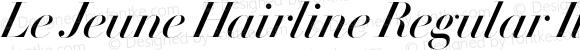 Le Jeune Hairline Regular Italic