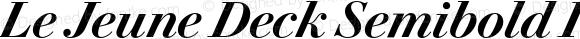 Le Jeune Deck Semibold Italic
