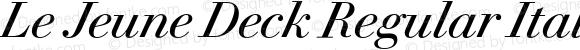 Le Jeune Deck Regular Italic